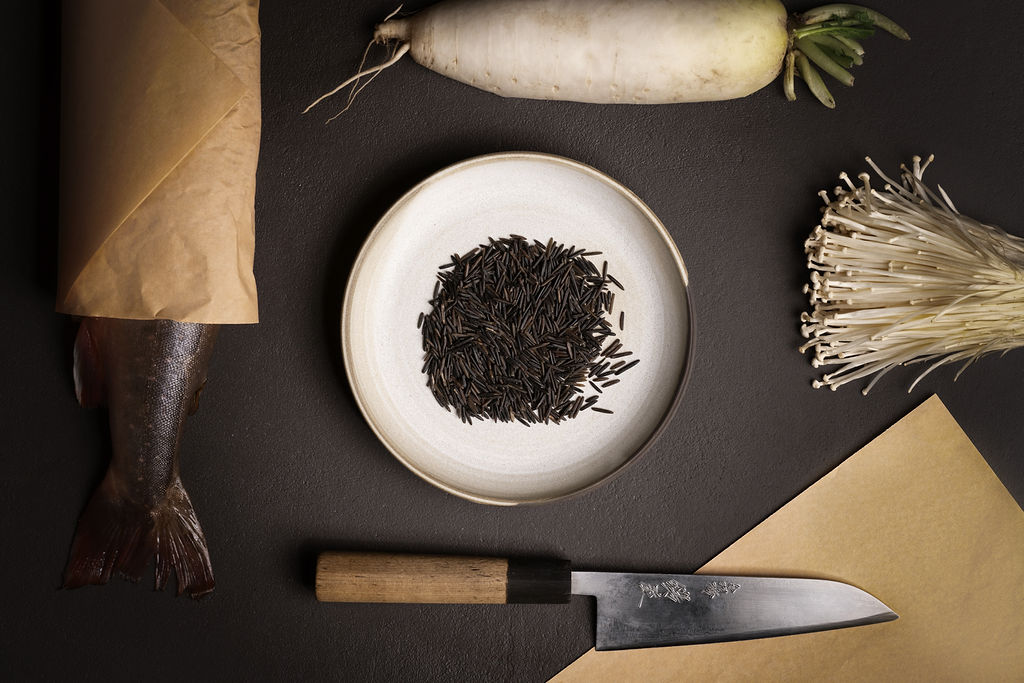 artistic overhead Culinary food photography low key photography